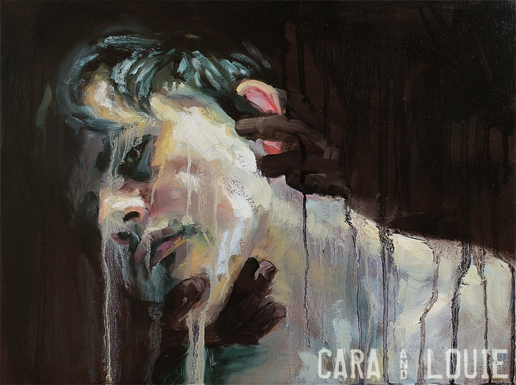 The Persistence of Suppressed Thoughts XX - original oil painting by Cara & Louie - The Collaborative Art of Cara Thayer & Louie Van Patten