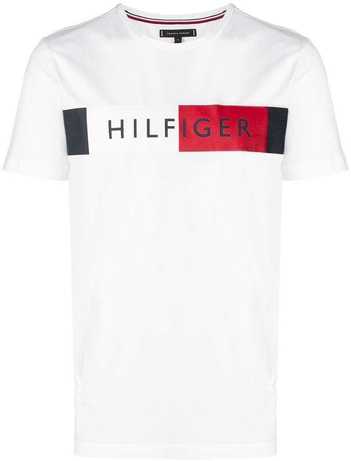 Tommy Hilfiger Colour Block Flag T Shirt Tommy Hilfiger T Shirt Custom Polo Shirts Tommy Hilfiger