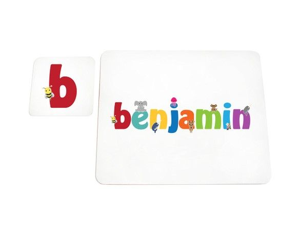 Feel Good Art High Gloss Placemat and Coaster for Babies/Toddlers (Benjamin)