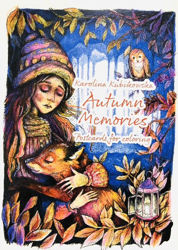 Autumn Memories post cards for coloring by Karolina