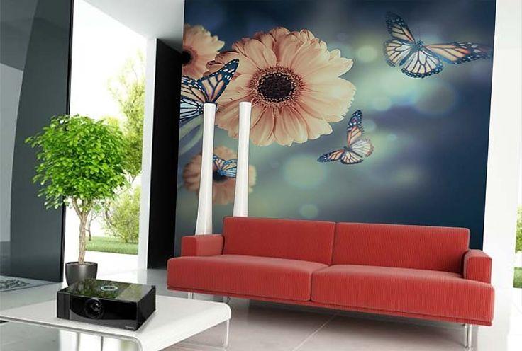 Fototapeta Flowers and Butterflies 4637 | Fototapety Květiny a Rostliny…