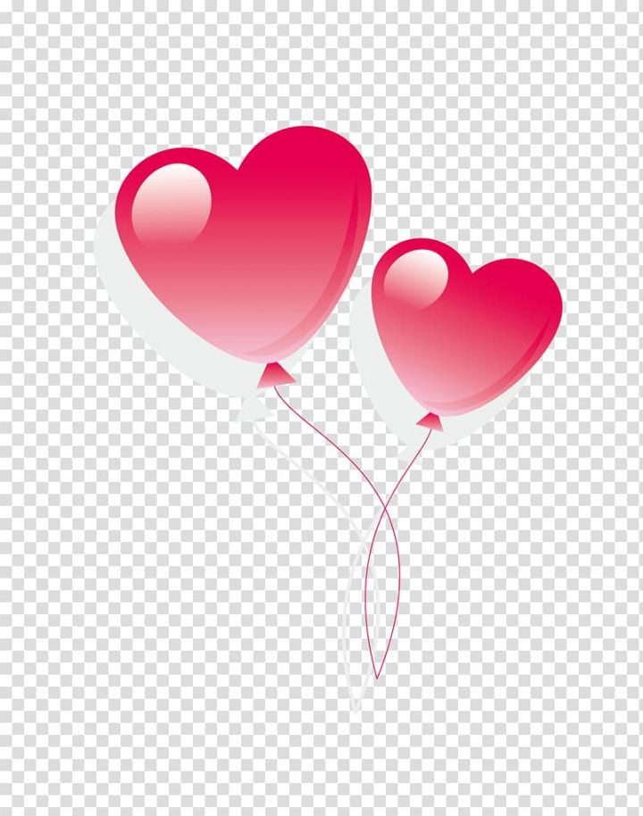 Two White And Pink Heart Balloons Cartoon Pink Valentine Heart Balloon Transparent Background Png Clipart Heart Balloons Pink Valentines Pink Heart