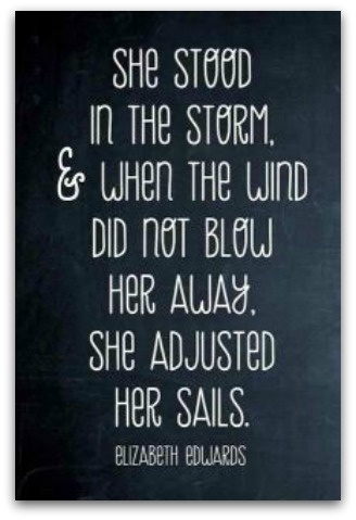 """""""Its not the blowing of the wind that directs us, but the setting of the sail.... The same wind blows on us all...""""Elizabeth Edward, Stands Strong, Stay Strong, Strong Women, Storms, Favorite Quotes, Sailing Away, Adjustable, Inspiration Quotes"""