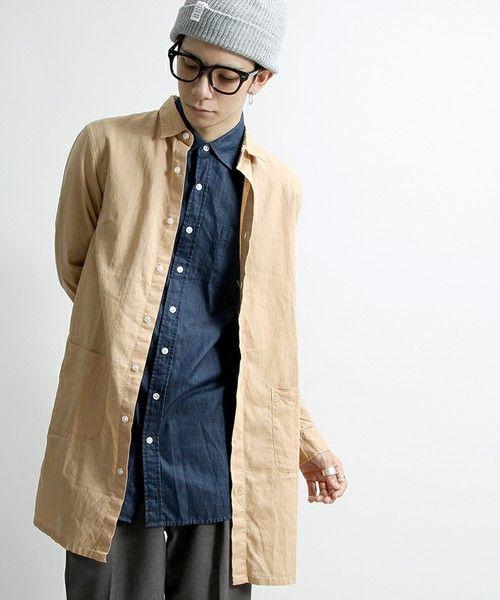 麻素材は季節の変わり目におすすめ。春夏のファッション アイテム メンズショップコート コーデを集めました。
