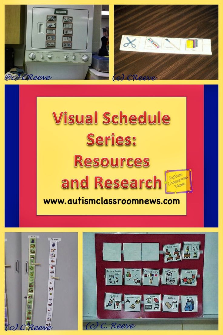 Autism Classroom News: Visual Schedule Series: Resources and Research