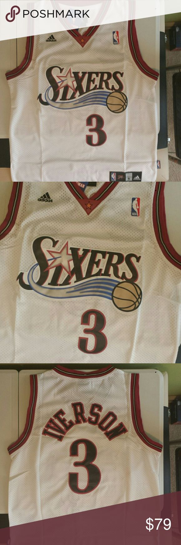 Allen Iverson Philadelphia 76ers jersey Stitched n Embroidered   Small 40 inch chest\bust   Lg 44 inch chest\bust Adidas Other