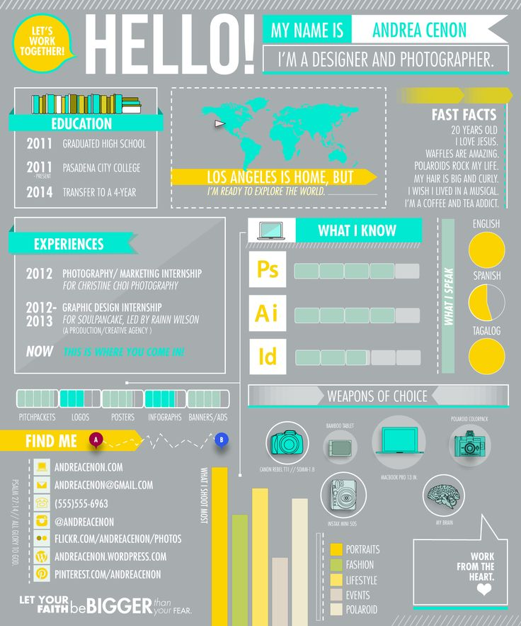 43 Best Infographic Resume Inspiration & Research Images