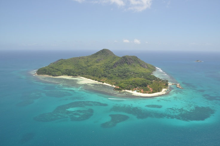 Sainte Anne Resort & Spa taken James Bond style from a helicopter. It's paradise!