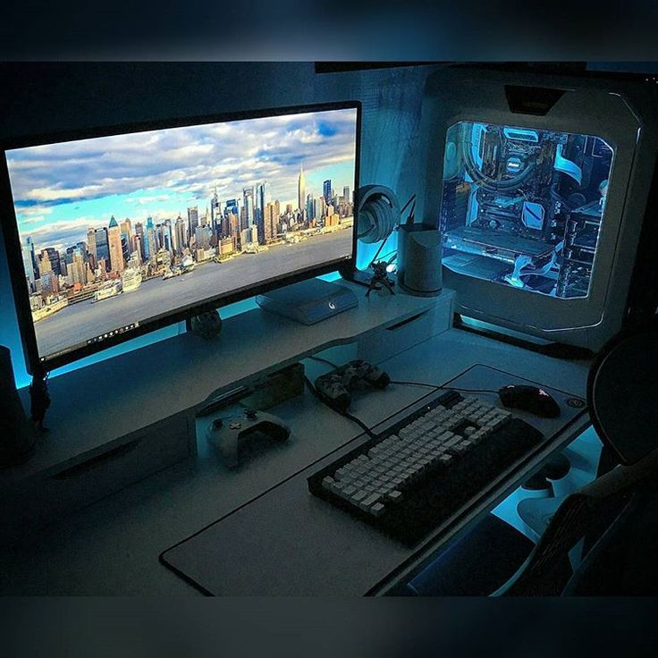 25 best ideas about pc gaming setup on pinterest gaming setup computer setup and gaming. Black Bedroom Furniture Sets. Home Design Ideas