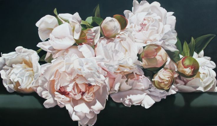 Art for sale by artist oil painter Thomas Darnell. Original paintings of flowers, peonies, French landscapes and abstract art. Luminous, photorealistic, large format paintings.