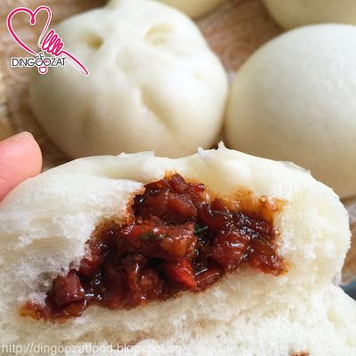 Best homemade Char Siew Pao aka Steamed BBQ Pork Bun, made without double acting baking powder and no shortening used in this recipe.