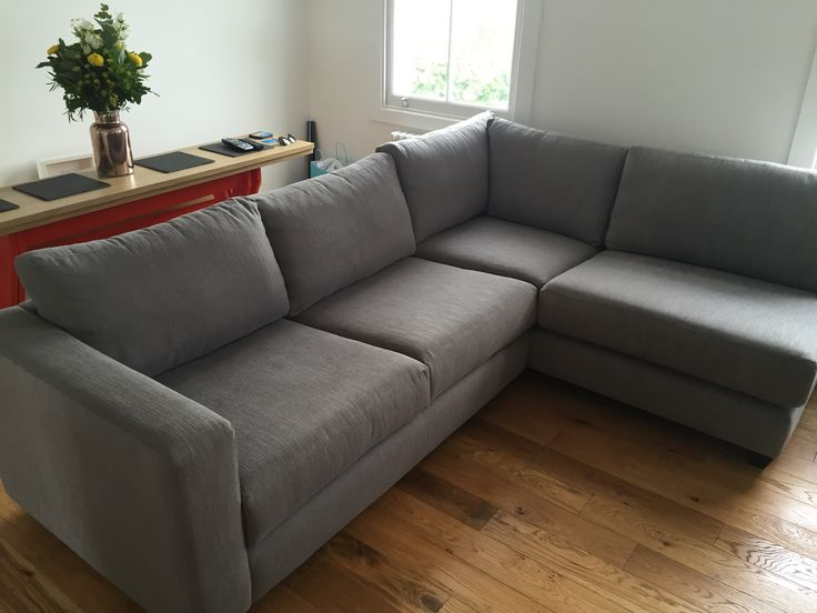 Bespoke Sofa Corner Unit With An Arm On The Left Side Only. Made In Three