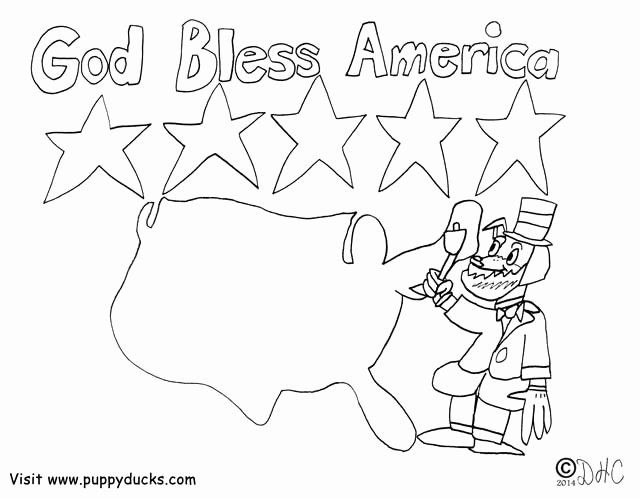 God Bless America Coloring Page New God Bless America Pages