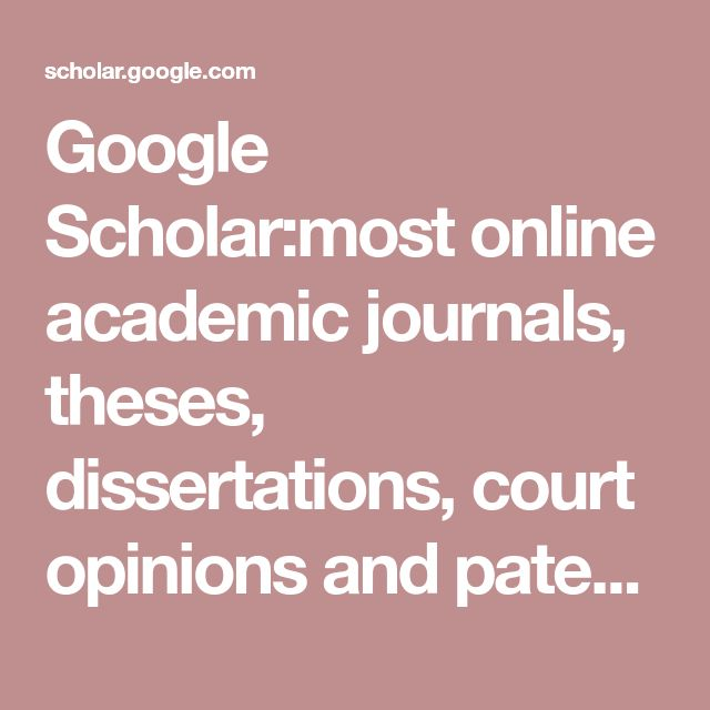 google scholar theses and dissertations Google scholar uses various types of sources such as dissertations, books, articles, unpublished versions of articles, conference papers, and other sources search tips with the help of search tips , you can easily get the most out of google scholar based on email alerts , citation export, and more.