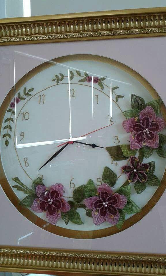 İğne oyası saat