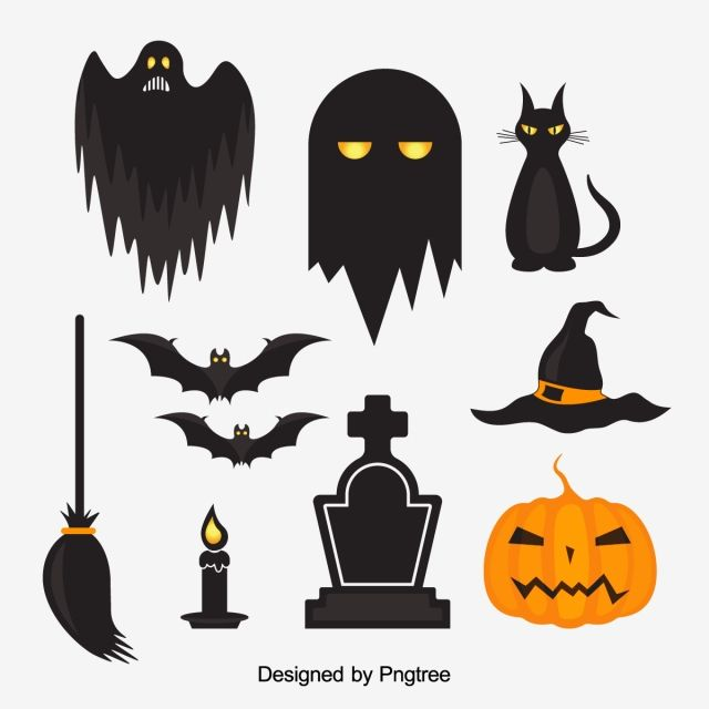 Simple Cartoon Halloween Design Pattern Halloween Witch Hat