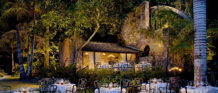 Sugar Mill Restaurant, Tortola,BRITISH VIRGIN ISLANDS. Imagine dining by candlelight in a romantic, 374-year-old, stone sugar mill, with a tropical garden to add to the atmosphere. You can - at the Sugar Mill Restaurant. The menu, which changes nightly, is designed by our chefs and our proprietors, Bon Appétit columnists, Jeff and Jinx Morgan.