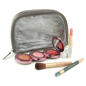 Jane IredaleSet Maquillaje Grab & Go Just For Me  ( My Steppes Maquillaje Kit, Mystikol, Just Kissed Pintalabios &Rubor Satinado, Brocha..... ) - # Cool 4pcs+1 bag