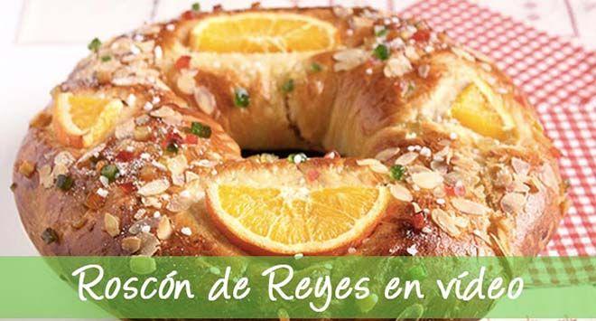 El Roscón de Reyes es una receta tradicional de Navidad para el 6 de Enero, día de Reyes. Os enseñamos cómo hacer el roscón de reyes paso a paso y en vídeo.