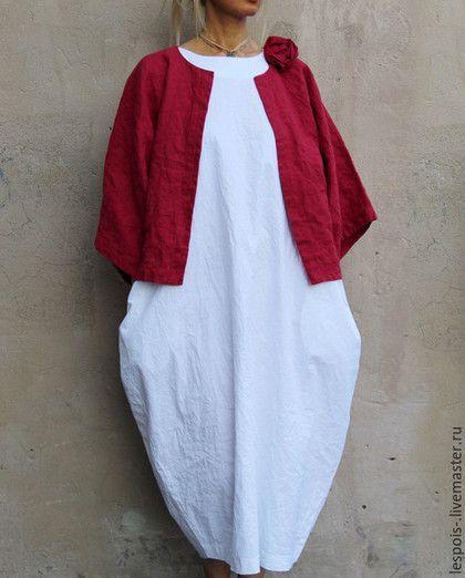 Купить или заказать Платье из хлопка в интернет-магазине на Ярмарке Мастеров. Летнее платье из хлопка с льняным поясом…