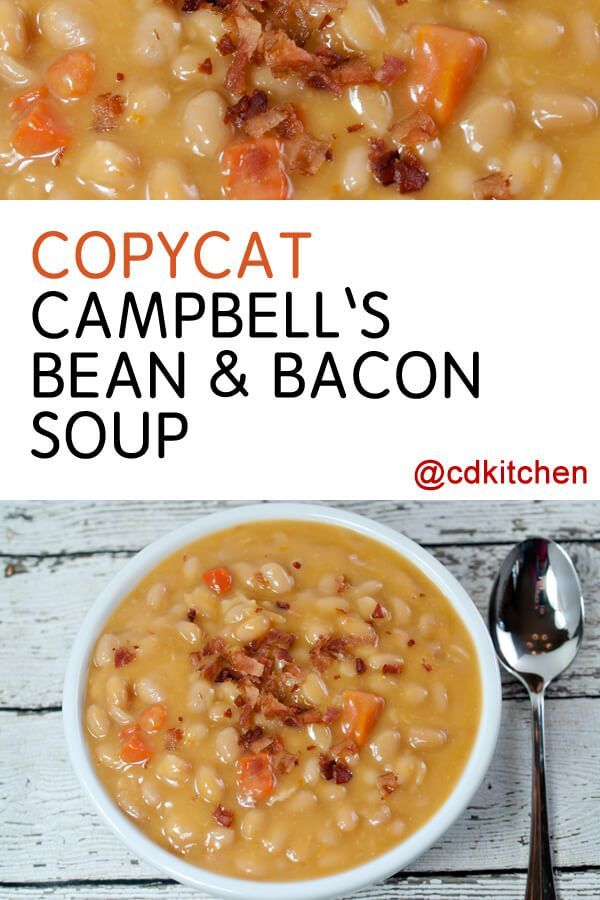 The bean and bacon soup by Campbell's is a long time favorite of many. Now you can nix the can and make it from scratch! | CDKitchen.com
