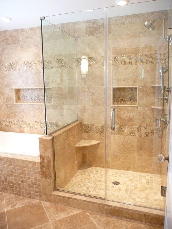 best 25 travertine shower ideas only on pinterest