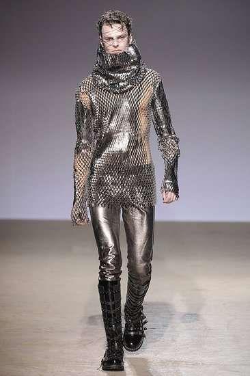 Shredded Male Leggings - Sci-Fi Warrior Fashion at Gareth Pugh Fall 2009