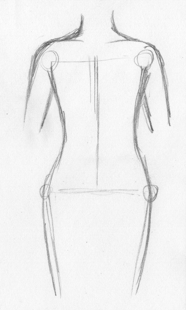 How To Draw Anime Body Figures Step By Step !