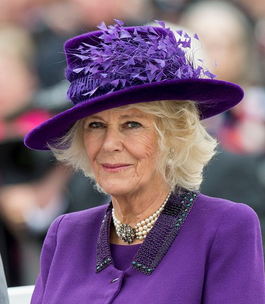 Camilla, Duchess of Cornwall attends the unveiling of a statue of Queen Elizabeth The Queen Mother during a visit to Poundbury on October 27, 2016 in Poundbury, Dorset.