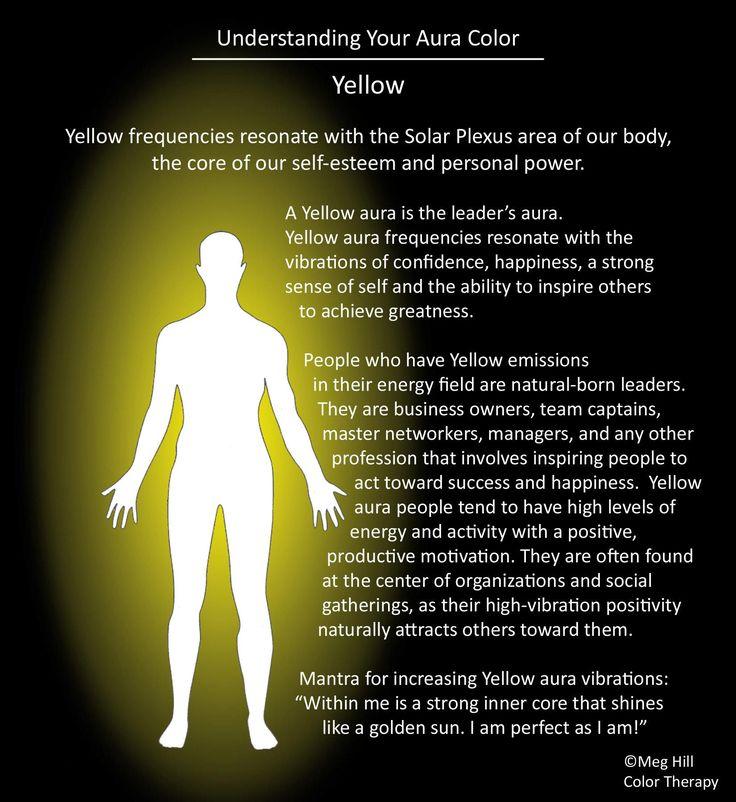 Aura | Yellow http://www.psychicreadinglounge.com                                                                                                                                                     More