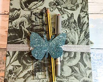 Butterfly, Planner Pen Holder, Planner Ideas, Gift for Her, Best Friend Gift, Gift for Mum, Gift for Sister, Christmas Gift, Stocking Filler #butterfly, #plannerband, #plannerideas, #bulletjournalideas, #bujo, #penholder, #penloop, #glitter