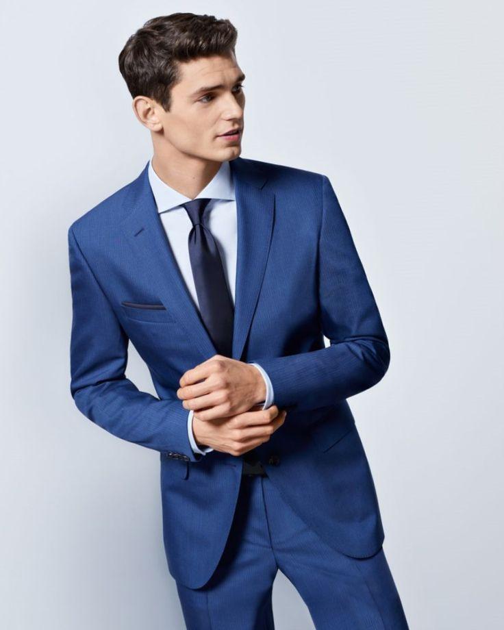Hemd zu dunkelblauem anzug. | Dunkelblauer anzug, Blauer