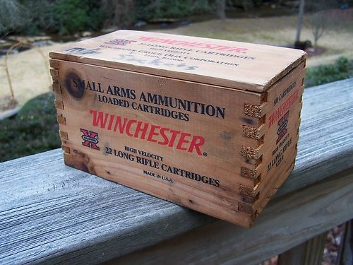 Vintage Winchester Dovetailed Wood Ammunition box 22 Long Rifle Cartridges & 19 best old box images on Pinterest   Wine boxes Home decor and ... Aboutintivar.Com