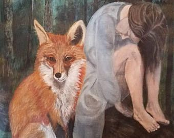 This 8x10 fox art print is the perfect wall art to create a   beautifully eclectic, rustic, peaceful  feel in any space whether it is modern or traditional. This art print is by the   art brand The Clay Moon by Memphis artist Samm Stafford.