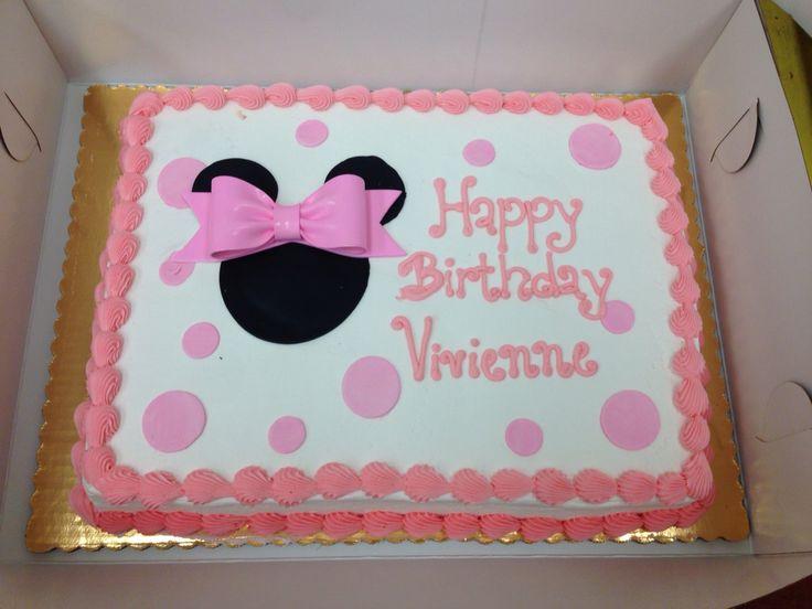 Minnie Mouse themenorientierter Blattkuchen $ 43.99   – My Personal Creations