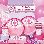 Ballerina party supplies in pink celebrate your dancer
