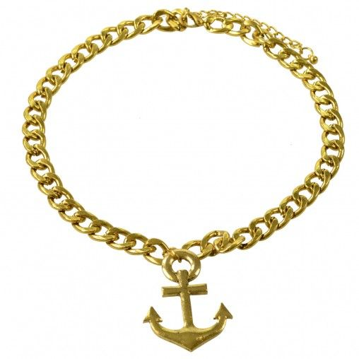 SACHA // Rough golden anchor chain €7,95 #sachashoes #sailor #marine #statement #necklace