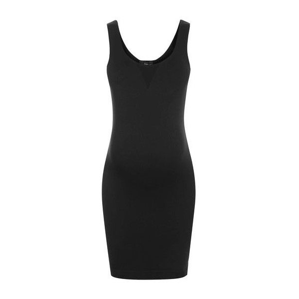 TopShop Maternity Shapewear Layering Slip (31 NZD) ❤ liked on Polyvore featuring black
