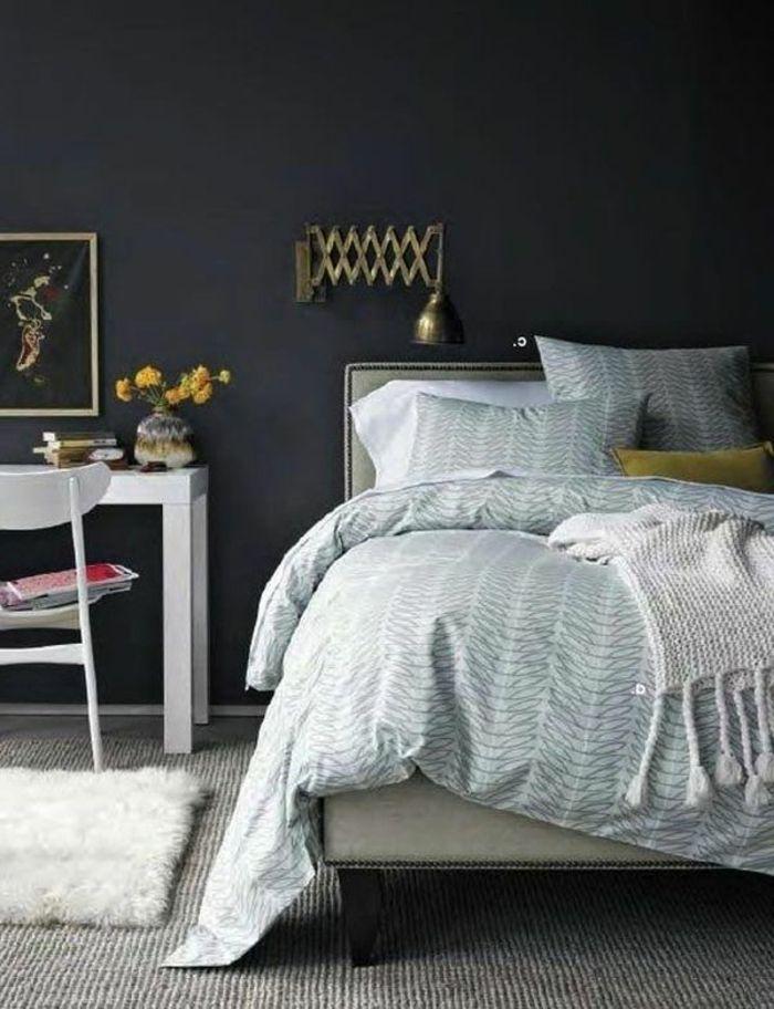 29 best Wand schwarz images on Pinterest Black man, Dark shades - ideen für schlafzimmer streichen