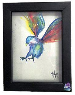 Bird, cuadro decorativo acuarela #Art3Mas
