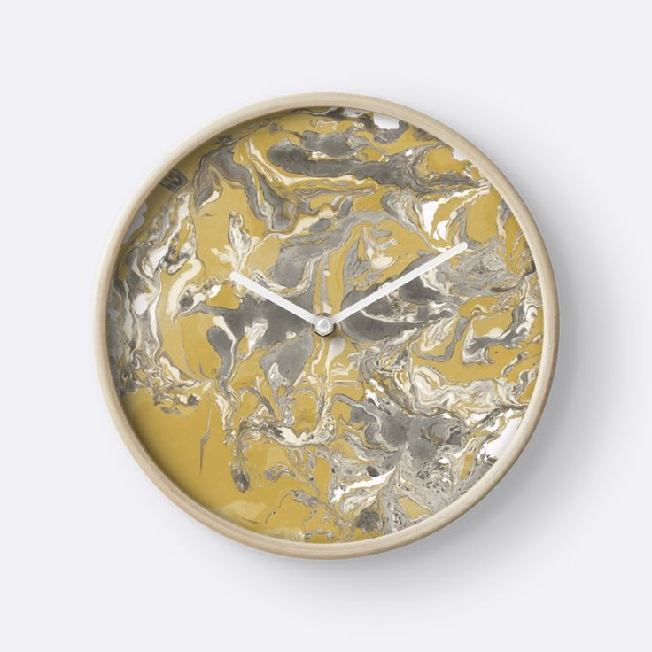 """Brown and gray marble texture."" Clocks by kakapostudio 
