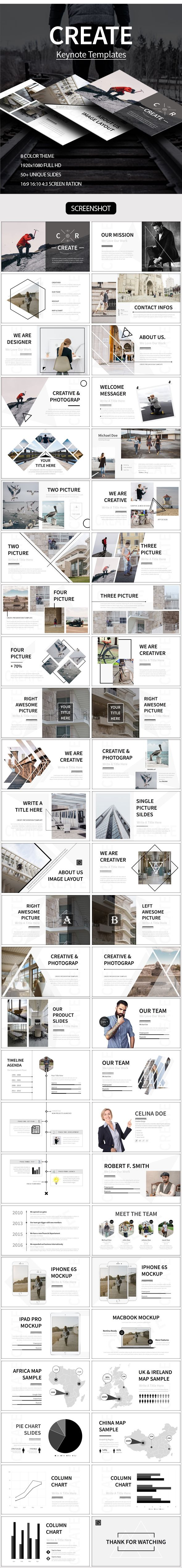 CREATE Keynote Template  #modern #biz • Download ➝…