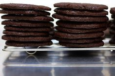 Awesome wafer cookies! No eggs, which is great for someone that has to eat the cookie dough!  Reminds me of chocolate ice cream!