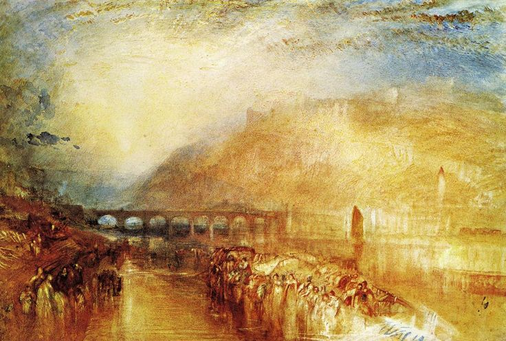 JMW Turner Watercolor Paintings | Turner, Heidelberg, c.1846. Watercolour, gouache and pen and ...
