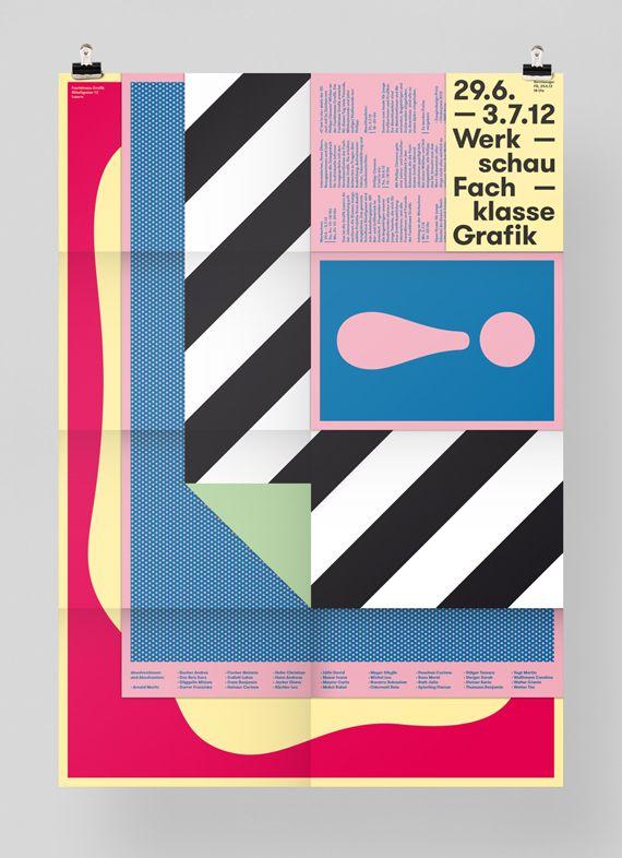 Werkschau 2012: A flyer/poster for the Werkschau of the graphic design school «Fachklasse Grafik» in Lucerne.