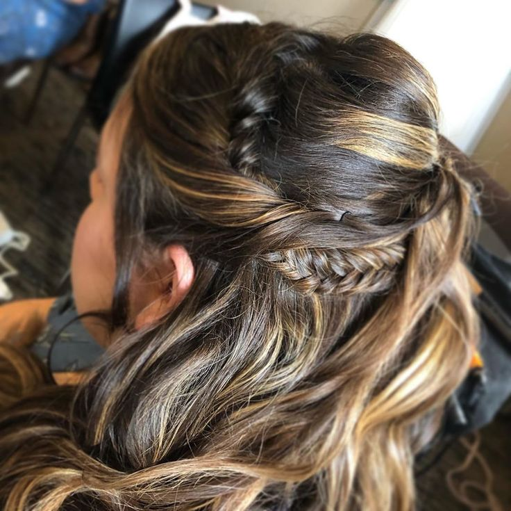 Fishtail braid and half up/half down updo. 🥰 • •  #lavishglamco #lavish #glam #hairartist #makeupartist