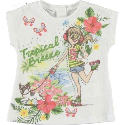 T-shirt Dodipetto bambina 4 anni in cotone con stampa