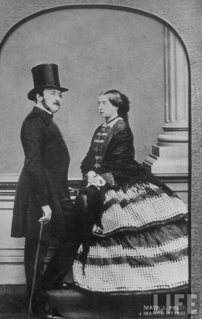 Prince Albert and Queen Victoria of the United Kingdom.