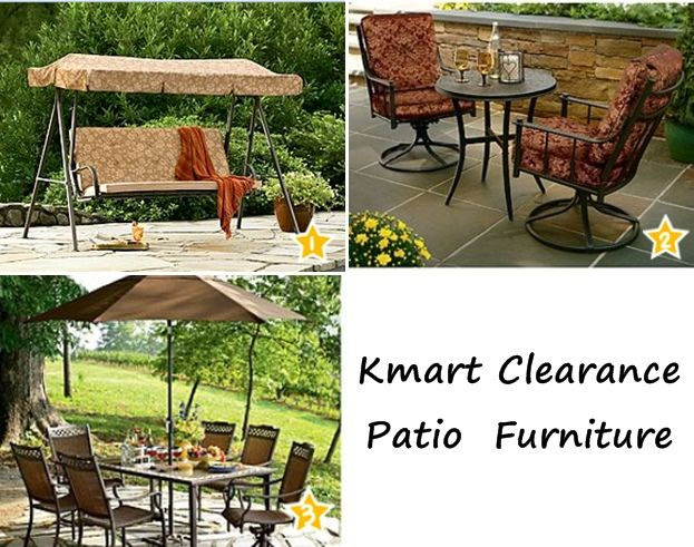 kmart 50 off patio furniture clearance love the cushioned 3person swing for