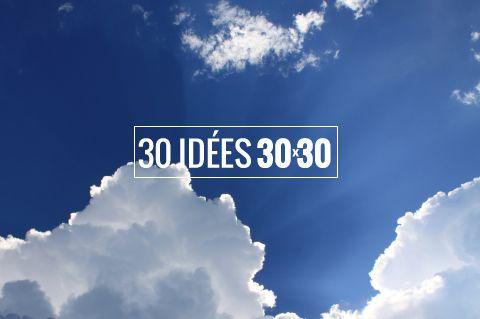 30 idées pour réussir le 30x30 : pause café dans un parc, jardinage, pique nique entre collègues, quelques étirements dans un parc...